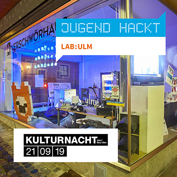 Kulturnacht im Verschwörhaus: Let's play to save the world 🎮 und Generative Art von Bleeptrack (Förderpreis Junge Ulmer Kunst 2019)