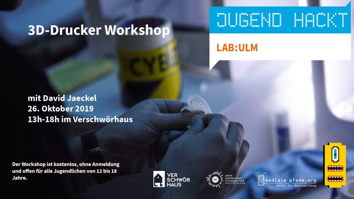 3D-Drucker Workshop mit David Jaeckel