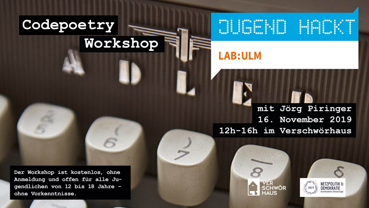 Code Poetry Workshop with Jörg Piringer